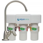 Aquasana AQ-5300.55 3-Stage Under Counter Water Filter System with Brushed Nickel Faucet