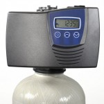 Metered water softener with 1.25