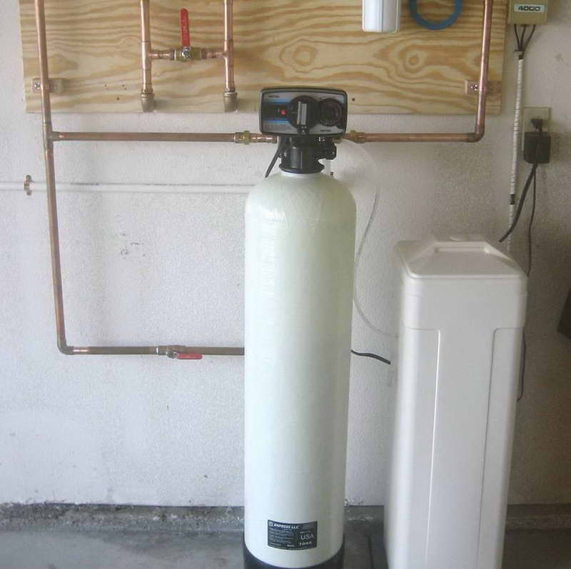 selecting a location for a water softener