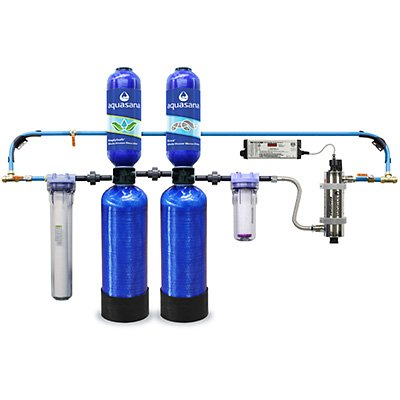 Rhino Whole House Well Water Filter + SimplySoft Whole House Descaler