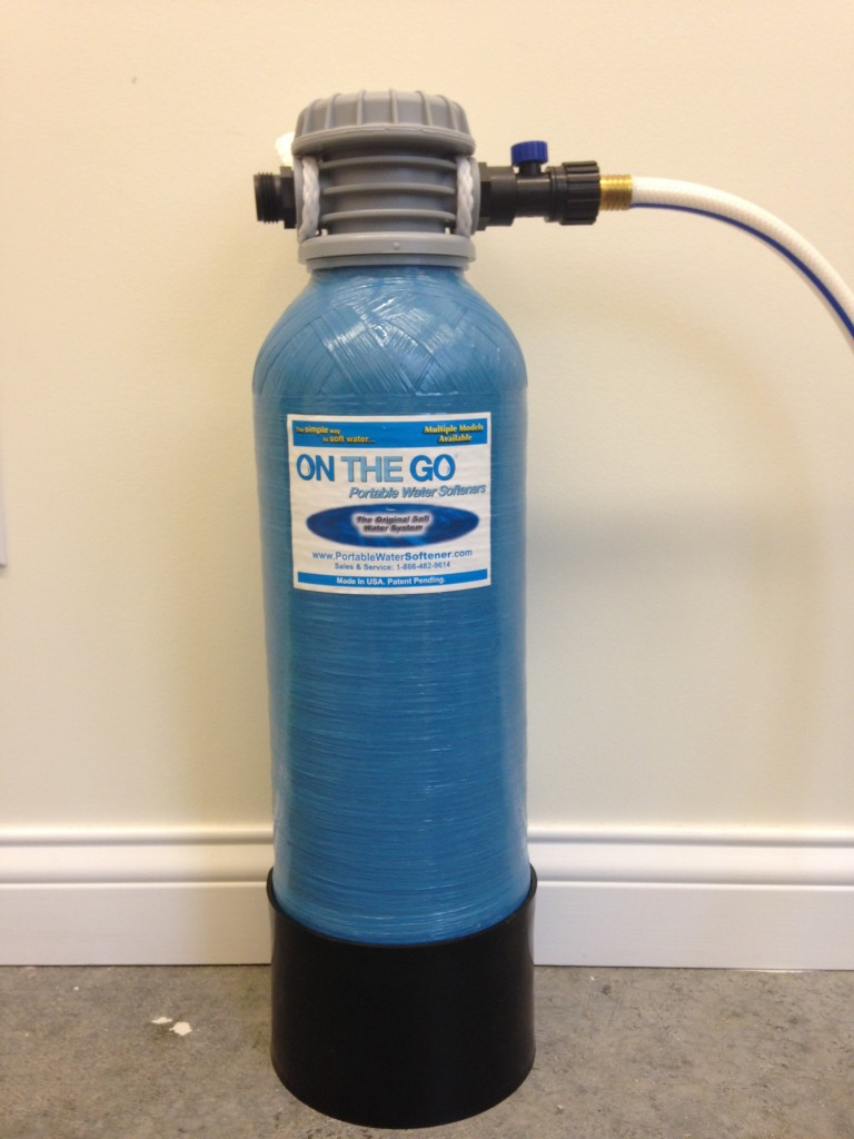 on the go water softener