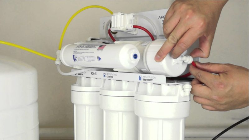 reverse osmosis system filter change